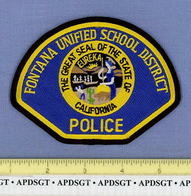 FONTANA UNIFIED SCHOOL DISTRICT CALIFORNIA Sheriff School Campus Police Patch