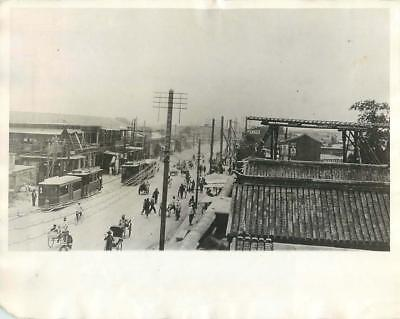 1927 City of Tientsin, China Viewed from atop YMCA Building Original Press Photo