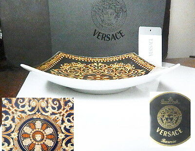 "Rosenthal VERSACE BAROCCO 7"" Square Tray/Candy Dish, NEW in BOX"
