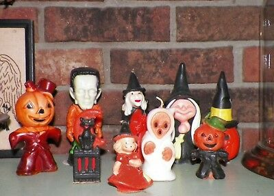 Vintage Halloween Gurley Candle Lot of 9