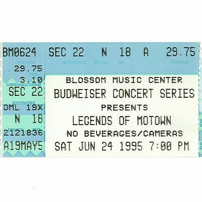 TEMPTATIONS & FOUR TOPS & SPINNERS & MARY WILSON Concert Ticket Stub 6/24/95 OH