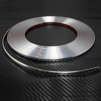 Chrome Moulding Trim Strip Car Door Edge Scratch Protector Cover 15M 8mm【AU】