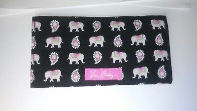 Vera Bradley Checkbook Cover in Pink Elephants <NEW with TAGS>