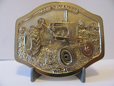 Allis Chalmers WD-45 1953 Tractor GOLD Belt Buckle Limited Edition  048/250 ac