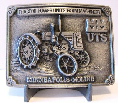 Minneapolis Moline UTS Red Nose Tractor Power Units Machinery Belt Buckle Ltd Ed
