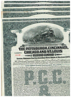 Set 7 Pittsburgh, Cincinnati, Chicago and St. Louis RR Co., 1920, grey