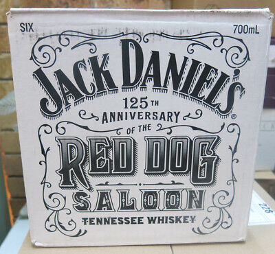 Jack Daniels Red Dog Saloon 125th Anniversary 700ML LIMITED EDITION BOXED x 6