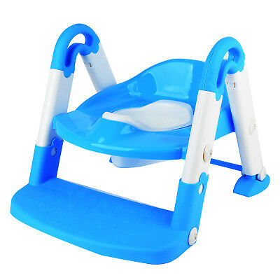 3 in 1 Kids Toddler Baby Toilet Training Potty Step Ladder Seat Mat Folding New