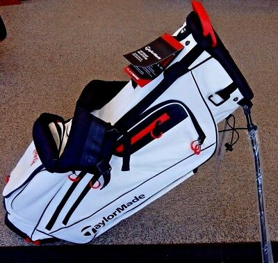 NEW! TaylorMade 2017 FlexTech Stand Carry Golf Bag - White- Coca Cola Logo