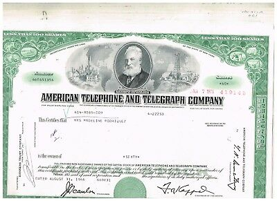 Set 15 American Telephone and Telegraph Co., 1960s, rarer green type