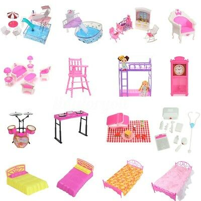 Miniatures Doll House Furniture Accessory Pretend Play Set for Barbie Kelly Doll