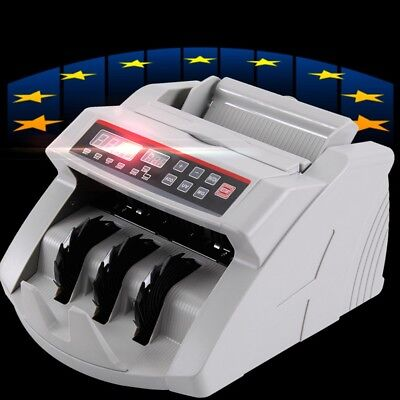 Money Bill Cash Counter Bank Machine Currency Counting Uv & Mg Counterfeit Us/eu