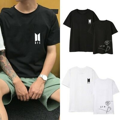 Kpop BTS T-Shirts Albums Love Yourself Birthday Loose Cotton Unisex Shirts Top