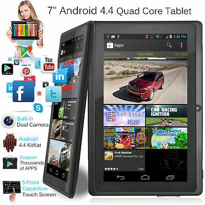 7'' inch Android 4.4 Tablet PC Quad Core 8GB WIFI Dual Camera HD Screen AU post#