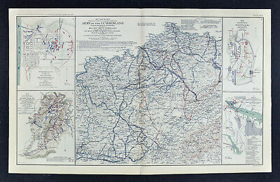 Civil War Map Army of the Cumberland Tennessee Kentucky Perryville Baton Rouge