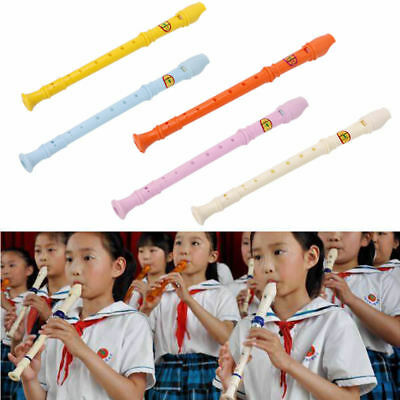 Plastic Musical Instrument Recorder Soprano Long Flute 8 Holes Tool