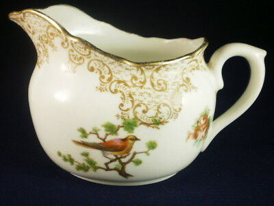 Vintage Royal Doulton Bird & Flowers Creamer (Crack)