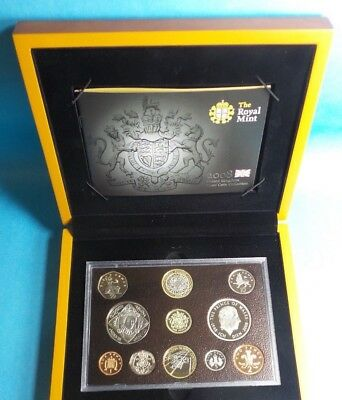 2008 United Kingdom Official Proof Coin Collection With Wooden Box