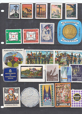 Poster Stamps, A Collection Of 22 German Labels