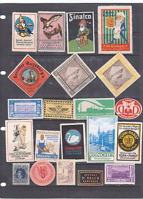 Poster Stamps, A Collection Of 21 German Labels
