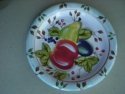 """Heritage Black Forest Fruits 10.5"""" Dinner Plate with Stickers"""