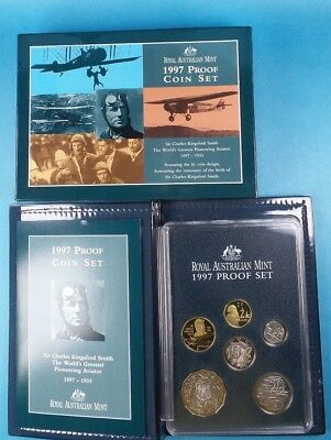 1997 Royal Australian Mint Proof Set Sir Charles Kingsford Smith Cased & Cert