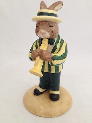 Royal Doulton Bunnykins Trumpet Player Db 210A Limited Edition With Green Jacket