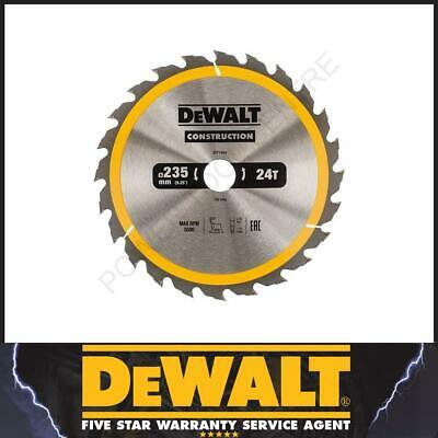 DeWalt DT1954 DT1156 Construction Circular TCT Saw Blade 235mm x 30mm 24T Coarse