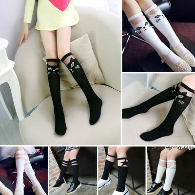Cute Cartoon Cotton Baby Kids Girls Toddlers Knee High Socks Tights Leg Age 0-8Y