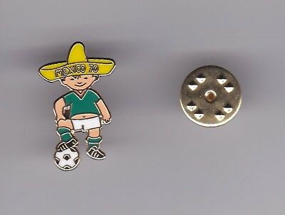 """"""" Juanito """" World Cup Mascot Mexico 1970 - lapel badge butterfly fitting"""