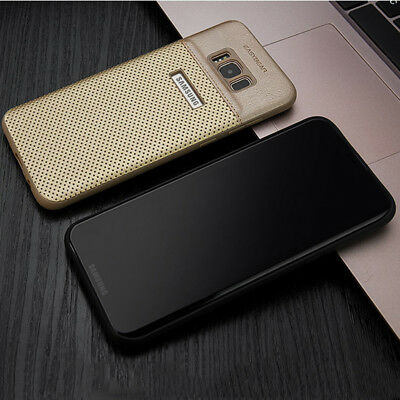 Hybrid Slim Leather Bumper Back Case Cover For Samsung Galaxy S8&S8 Plus DE