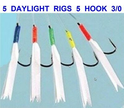 6 Packs Daylight 6 Hook Size 3//0 Fishing Mackerel Feathers Lures Sea Pollack Cod