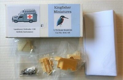 Kingfisher Miniatures 1/76 Mac-68 Landrover Defender 130 Airfield Ambulance