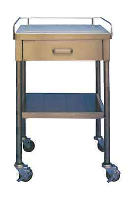 """New MCM-520 Utility Table 16""""W x 20""""L x 34""""H 1 Drawer and 3-Sided Guardrail"""