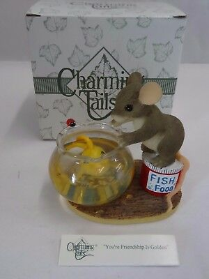 Charming Tails You're Friendship is Golden 89/119 Figurine NIB