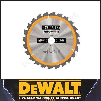 DeWalt DT1956 DT1158 Construction Circular TCT Saw Blade 250mm x 30mm 24T