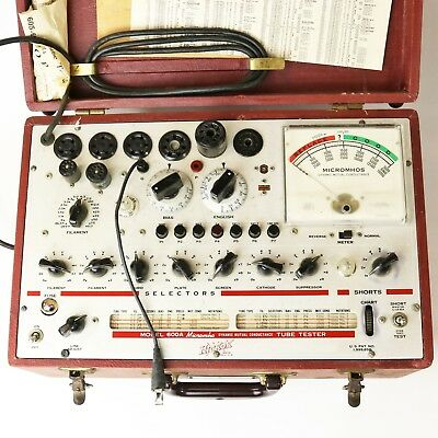 Vtg Hickok 600A Dynamic Mutual Conductance Tube Tester - Parts or Repair