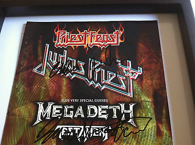 MEGADETH - PRIEST FEAST Promo poster Signed  CD VINYL