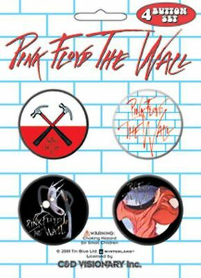 Pink Floyd - The Wall 4 x 3cm Button Set