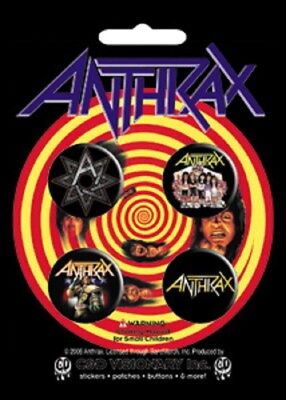 Anthrax - 4 x 2.5cm Button Set