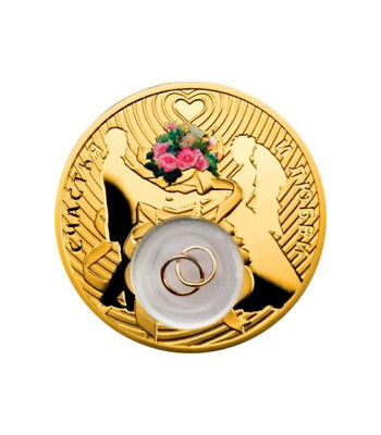 Niue 2013 2$ Wedding coin Gold Plated Proof Silver Coin
