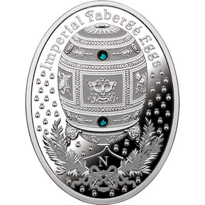 Niue 2012 1$ Napoleonic Egg Imperial Faberge Eggs Proof Silver Coin
