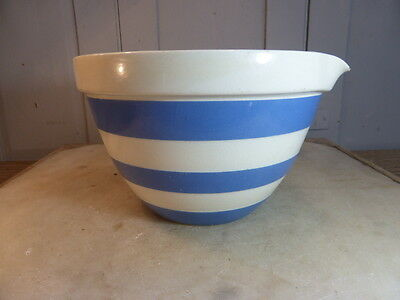 Antique vintage TG Green Cornish Kitchen Ware bowl with pouring lip