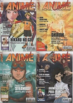 Animeland - Lot de 4 magazines manga - (N° 102 - 103 - 104 - 105)