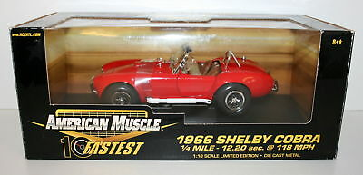 Ertl 1/18 32760 American Muscle 1966 Shelby Cobra - Red