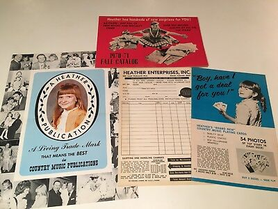Vintage Heather Enterprises Country Music Fall Catalog 1970-1971 w/ Inserts