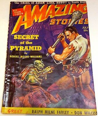 Amazing Stories – US pulp – July 1939 - Vol.13 No.7 - Ralph Milne Farley
