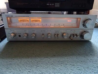 Toshiba SA-735 Stereo Receiver Amplifier High End Phono Input Working & Tested