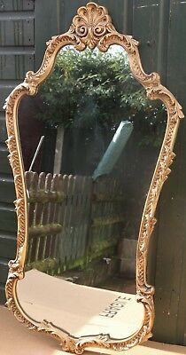 Very Large Heavy Quality Gilt Framed Fancy Shaped & Ornate Wall Mirror