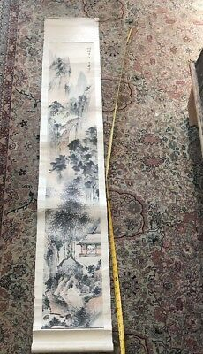 5FT- Antique Chinese hand painted  Picture Scroll  5FT